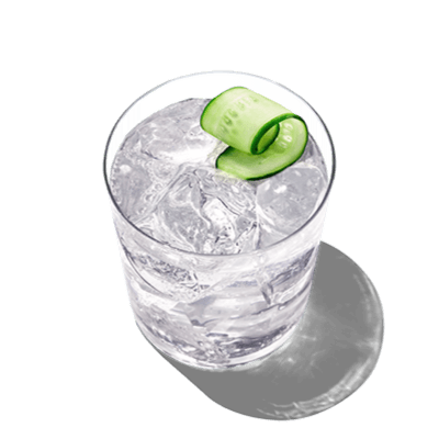 With a glass of cucumber tonic you combine pinnacle vodka and cucumber flavor.