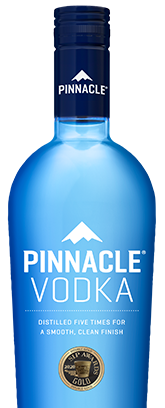 High Quality Bottles And Aesthetic Design With Pinnacle Original Vodka.